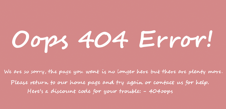 Custo 404 Error message