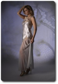 Long Silk Nightdress - Jane Woolrich 2571