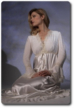 Long Sleeve Silk Nightdress - Jane Woolrich 31711