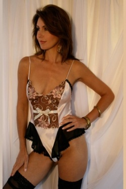 Palest Shell Pink Silk Thong Back Teddy Giselle by Diki