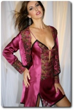 Raspberry Silk Nightdress