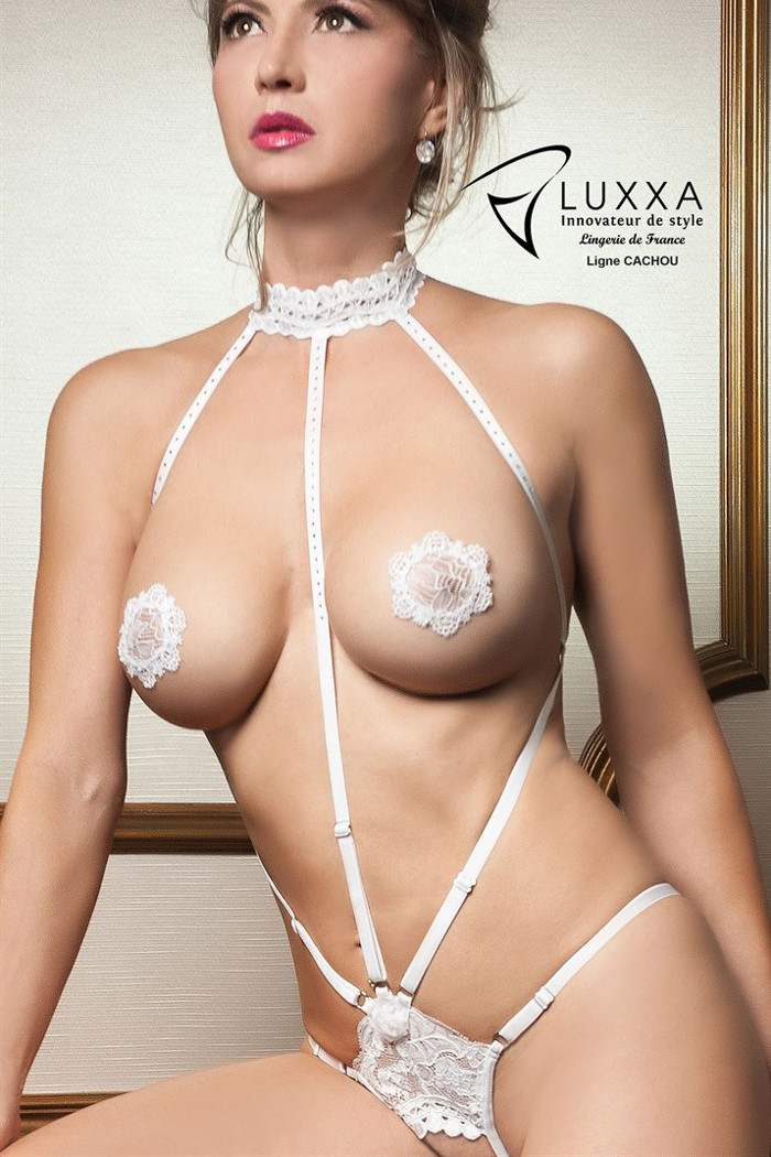 Cachou Open Harness Style Body by Luxxa Lingerie