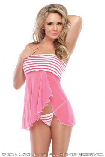 Strapless Pink Babydoll Coquette 1975