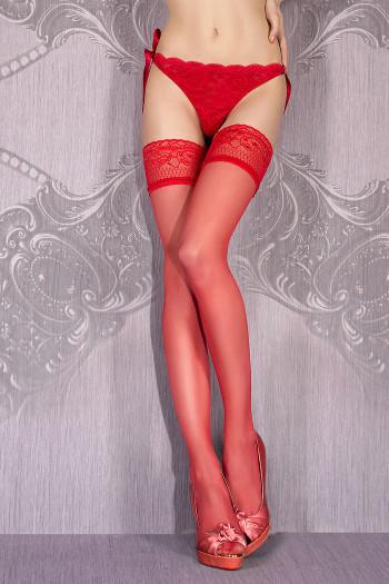 Red Hold Up Stockings Ballerina Hush Hush Art.700