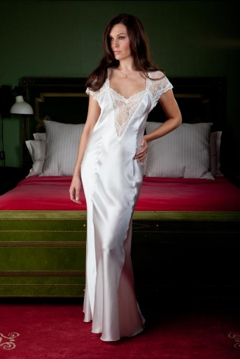 Silk & Lace Nightdress - Jane Woolrich 8274