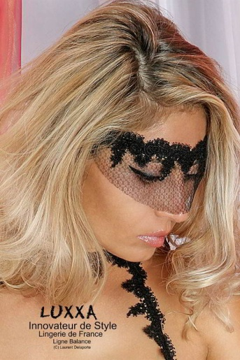 Balance Lace Trimmed Tulle Mask by Luxxa