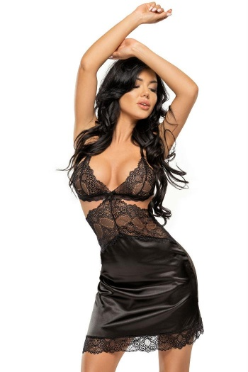 Beauty Night Adelaide Black Chemise