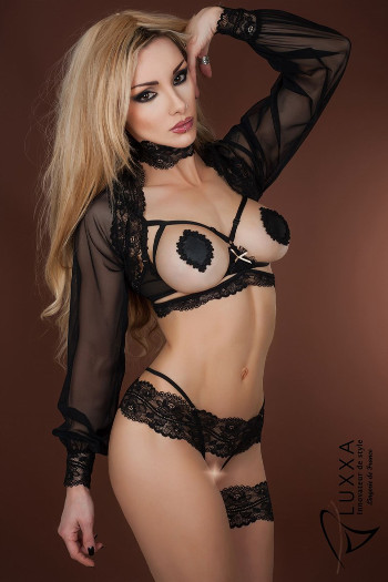 Reglisse Naked Bra Set by Luxxa Lingerie