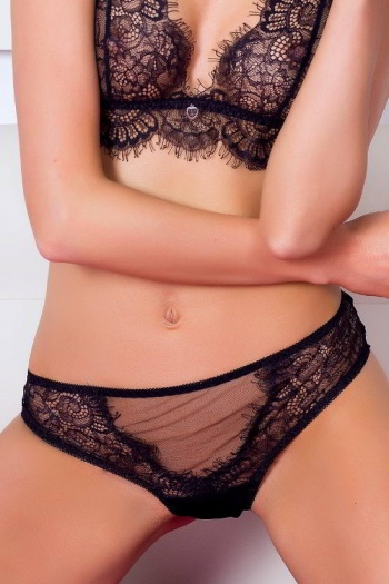 Black Lace Cheekies Dark Temptation