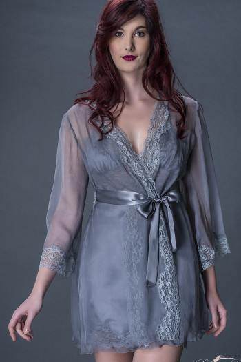 Contemporaine Silk Chiffon Deshabile by Liliana Casanova