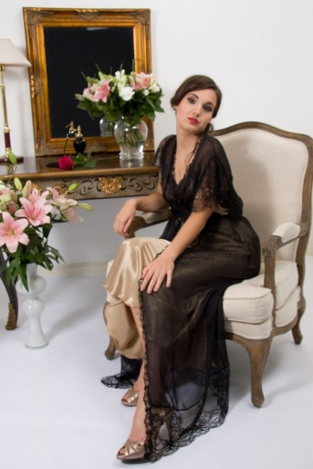 Sheer Silk Negligee Duroc by Liliana Casanova