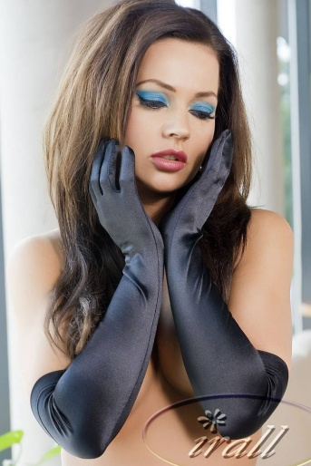 Irall Accessories Long Satin Gloves