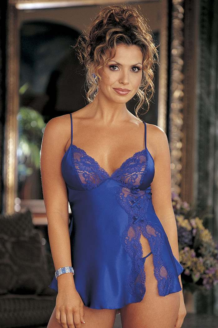 4ddc7e0ee62 Satin   Lace Babydoll Shirley of Hollywood 20016 Choice of Colours