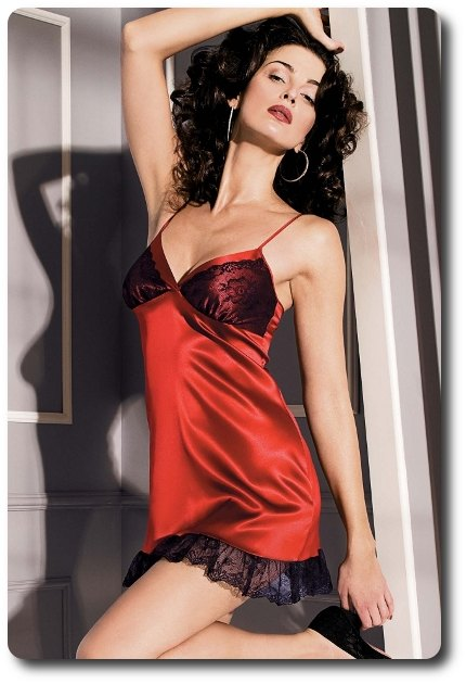 Xxl Short Red Satin Chemise Coemi 321 Save 10 Reduced To Clear