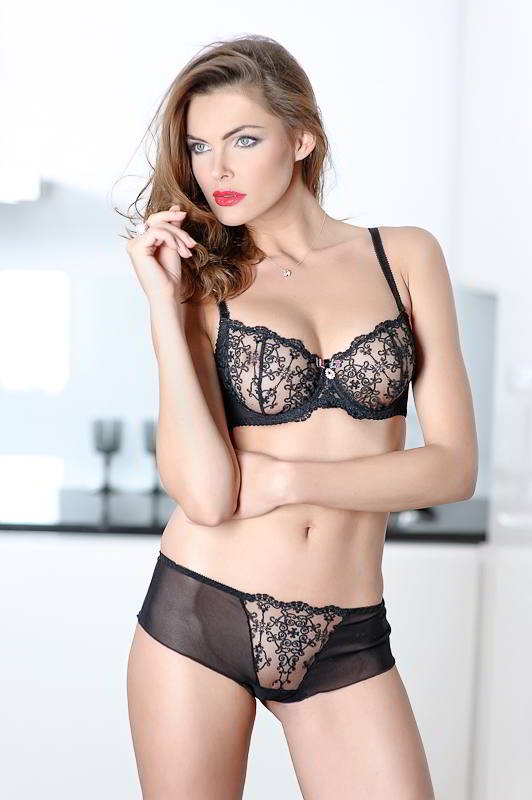 2ca113093f Black Lace Soft Cup Bra - Gina by Caprice Natural Fashion