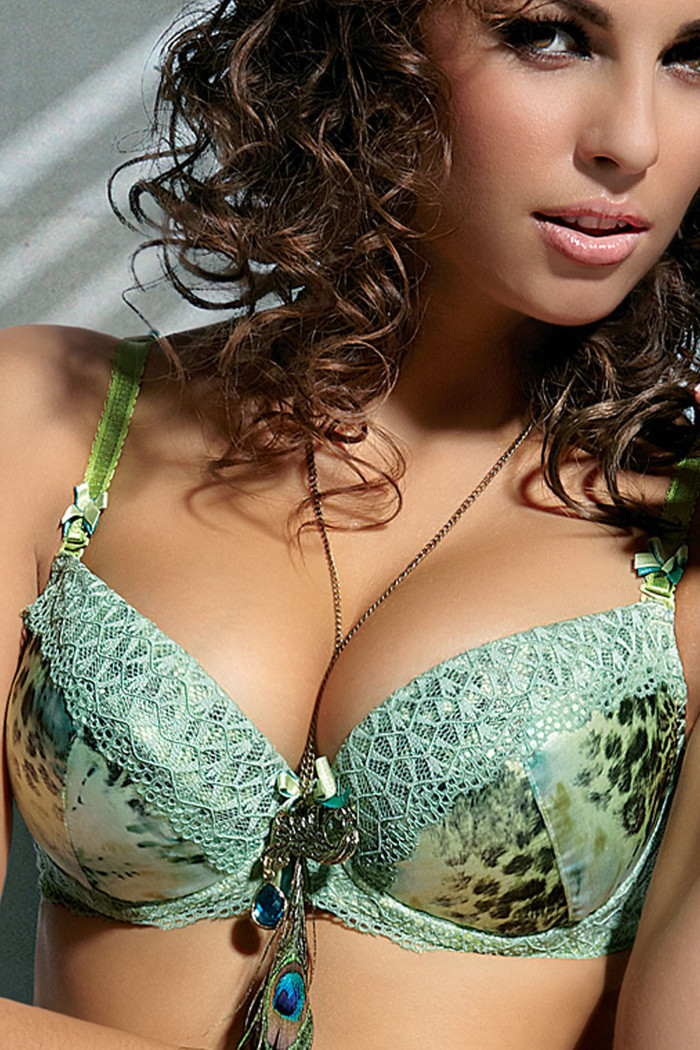 Animal Print Push Up Bra- Ayana by Konrad - Price Cut