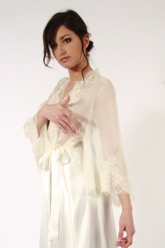 St Honore Long Silk Dressing Gown