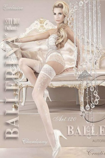Ballerina White Hold Up Stockings - ART.120