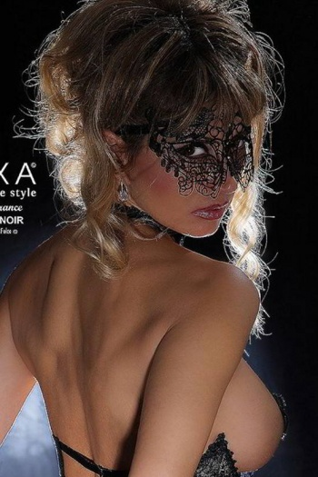 Love Noir Black Lace Mask by Luxxa