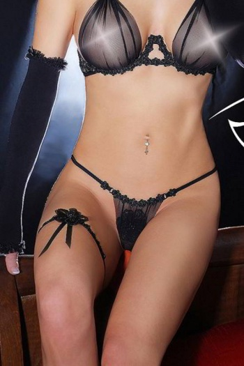 Love Noir Voile G String by Luxxa