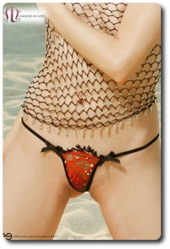 Coral Imperial Closed G String