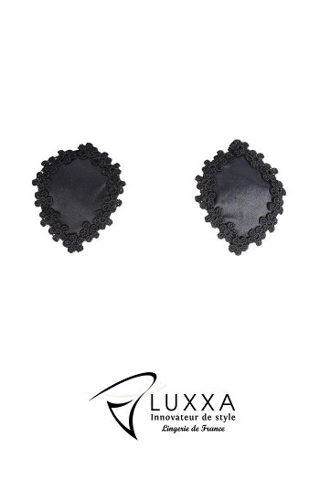 Reglisse Oval Shape Black Nipple Covers by Luxxa