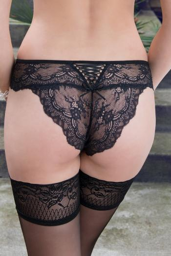 Ofelia Black Lace Knickers by Roza Lingerie