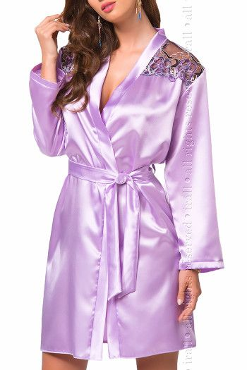 Short Satin Dressing Gown - Olga by Irall
