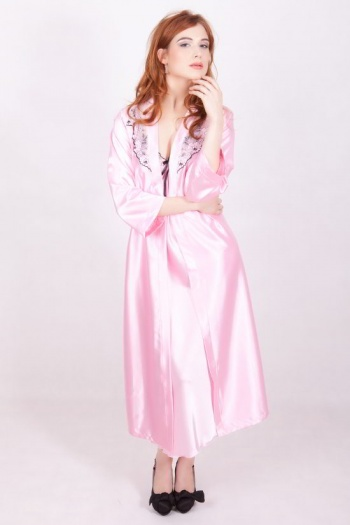Sylvia Long Satin Robe