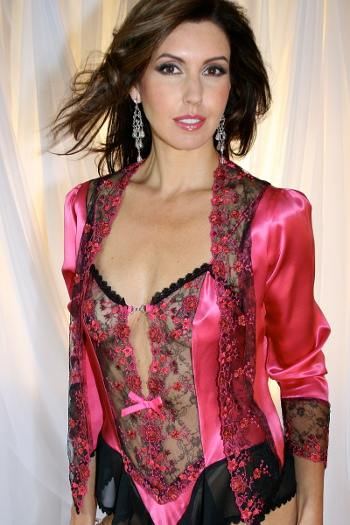 Fuchsia Pink Silk Jacket Christelle by Diki