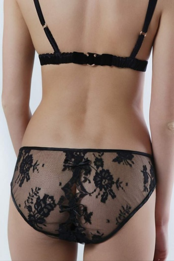Black Lace Diamond Knicker - Sonatine by Sonata Lingerie