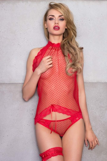 Sheer Red Top - Strawberry
