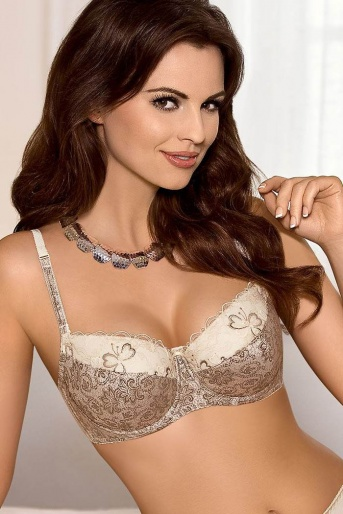 Gold & Cream Padded Bra Susan by Gorteks