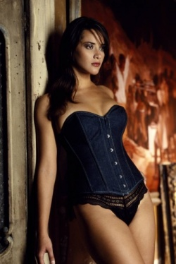 Dark Blue Denim Corset - Vollers Embrace Design 1106