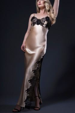 Long Silk Nightdress Jane Woolrich Design 3674