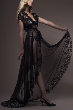 Luxury Long Negligee Jane Woolrich Design 3683