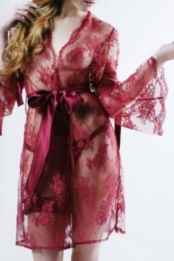 Red Lace Robe - Rosa by Sonata Lingerie