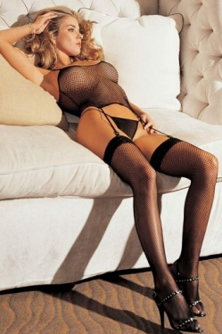 Three Piece Fishnet Lingerie Set