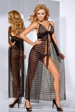 Long Black Lace Nightdress  - Embrace Me