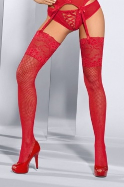 Axami Red Fishnets - Seduce Me