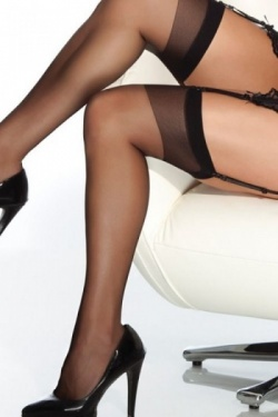 Elegant Sheer Thigh High Stockings - Coquette 1706