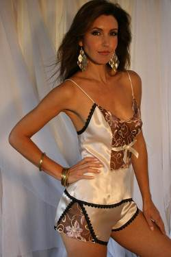 Palest Shell Pink Silk Camisole & French Knicker Set Giselle by Diki