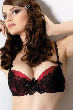 Carmina Glamorous Red Push Up Bra 152 by  Gracya Lingerie