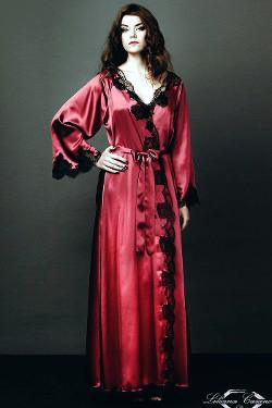 Chenonceau Glamorous Silk Dressing Gown