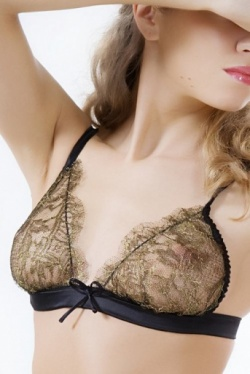 Gold Soft Lace Bra - Diva by Sonata Lingerie