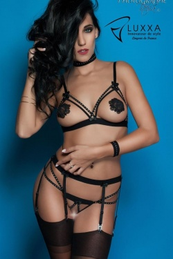 Guimauve Noir - Three Piece Naked Bra Set