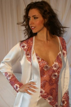 Ivory Silk Jacket Francesca by Diki