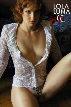 Liane White Stretch Lace Shirt