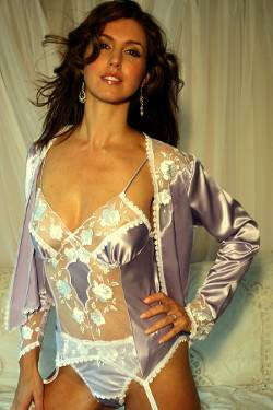 Lilac Silk Jacket Lily by Diki Lingerie