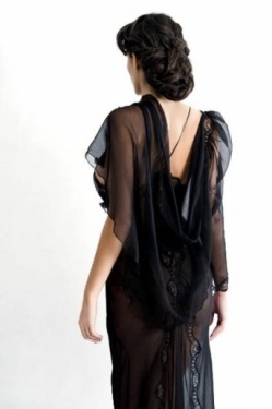 Sheer Mousseline Silk Drape